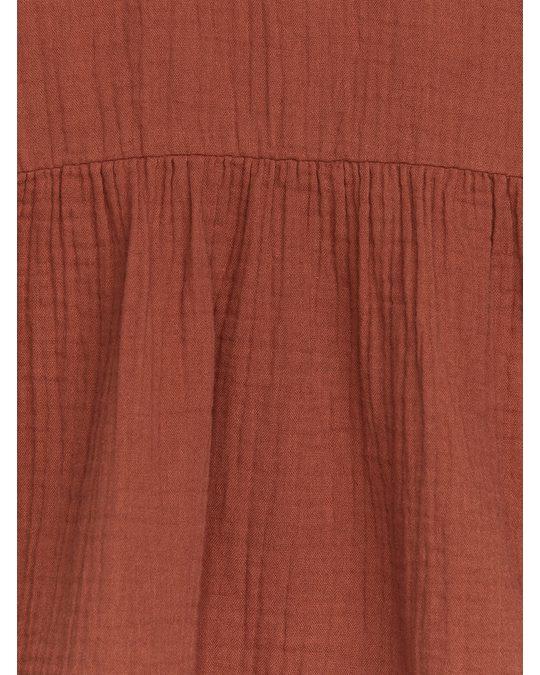 Arket Relaxed Muslin Dress Terracotta