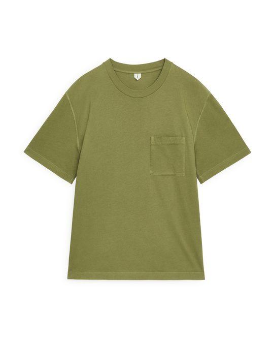 Arket Garment-Dyed T-shirt Green