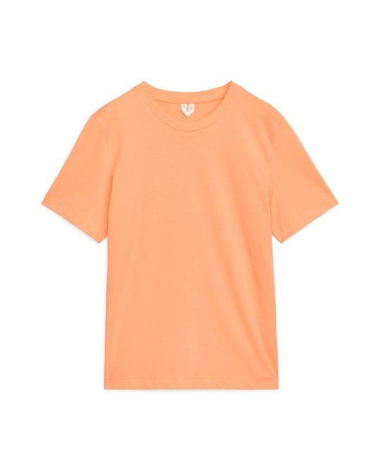 Arket Crew-neck T-shirt Apricot
