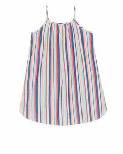 Lightweight Strap Dress Blue/striped