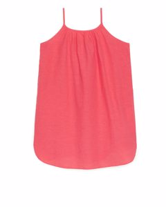 Lightweight Strap Dress Bright Pink