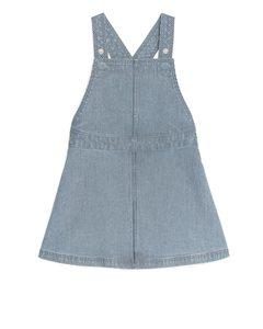 Hickory Stripe Denim Dress Blue/white