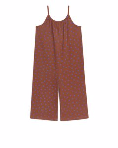 Printed Jumpsuit Terracotta/blue