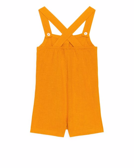 Arket Buttoned Jumpsuit Yellow