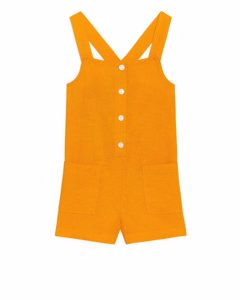 Buttoned Jumpsuit Yellow