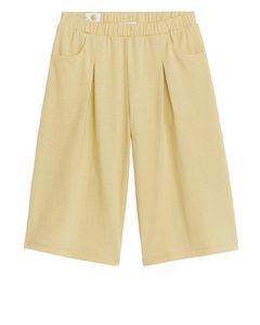 Natural Dye Jersey Trousers Yellow