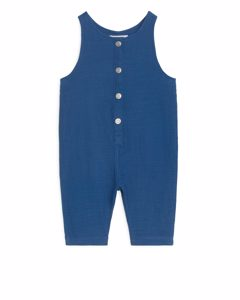 Natural Dye Dungarees Blue