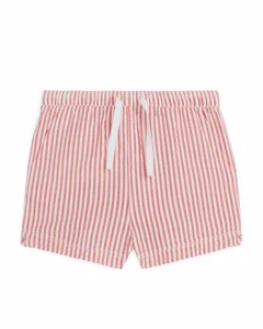Seersucker Shorts Red/white