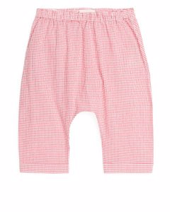 Seersucker Baby Trousers Red/white