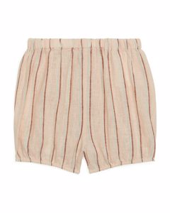 Linen-cotton Baby Shorts Beige/striped