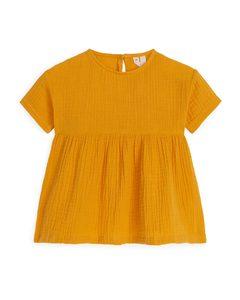Relaxed Muslin Dress Yellow