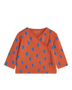 Wrap Jacket Orange/blue