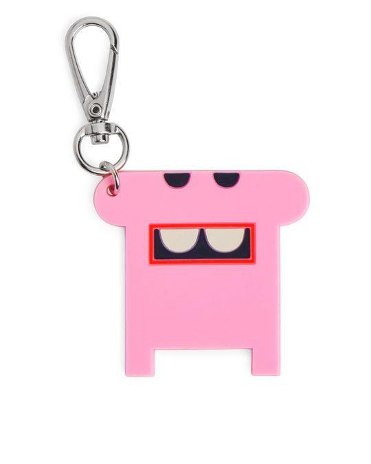 Arket Monster Keychain Pink