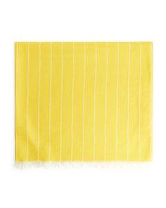 Woven Beach Blanket Yellow/white