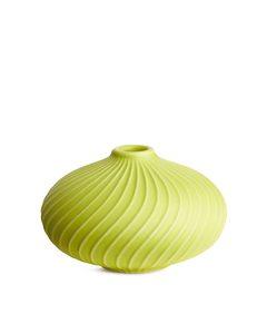 Terracotta Vase 6 Cm Greenish Yellow