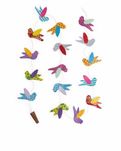 Afroart Bird Paper Festoon Multicolour