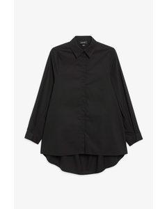 Hemd mit gerüschtem Rücken Schwarz