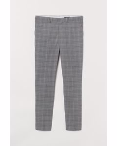Suit Trousers Skinny Fit Grey/checked
