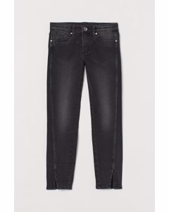 Skinny Fit Ankle Jeans Svart/washed Out
