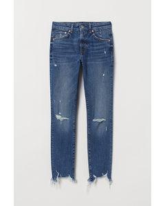Slim High Ankle Jeans Blauw