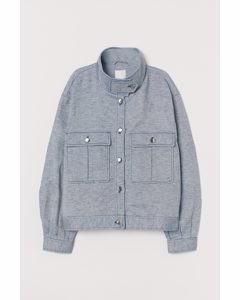 Skjortjacka Blå/vit