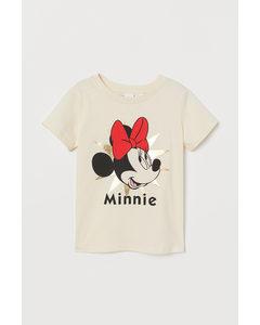 T-shirt Med Tryck Naturvit/mimmi Pigg