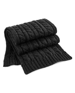 Beechfield Unisex Cable Knit Melange Scarf