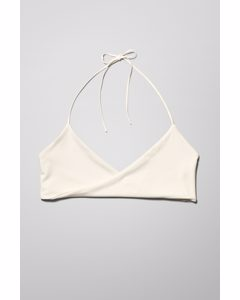 Lagoon Triangle Swim Top Off-white