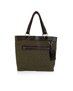 Louis Vuitton Military Green Mini Lin Monogram Lucille Gm Tote Bag
