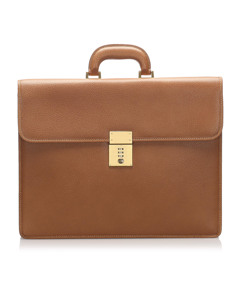 Gucci Leather Briefcase Brown