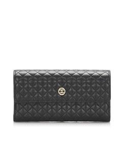 Chanel Matelasse Lambskin Wallet Black