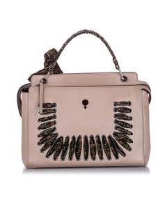 Fendi Dotcom Leather Satchel Pink