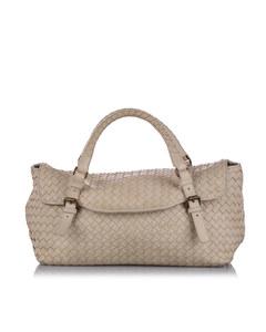 Bottega Veneta Intrecciato Leather Handbag Brown