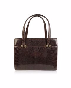 Gucci Vintage Brown Leather Top Handle Bag Handbag