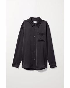 Larry Satin Shirt Black