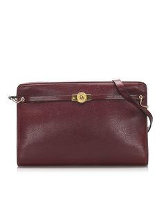 Dior Leather Shoulder Bag Red