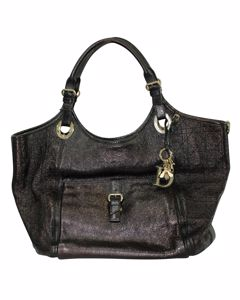 Black Cannage Large Leather Bee Tote