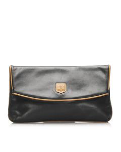 Celine Leather Clutch Bag Black