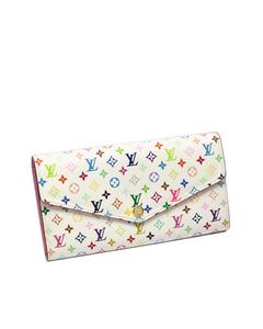 Louis Vuitton Monogram Multicolor Sarah Long Wallet White