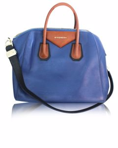Electric Blue With Brown Details Antigona Bag