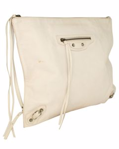 White Papier Messenger Bag