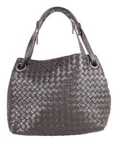 Brown Nappa Intrecciato Garda Tote Bag