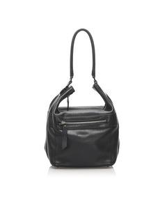 Gucci Leather Shoulder Bag Black