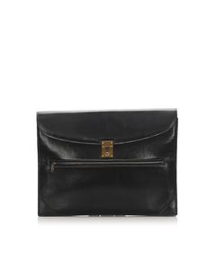 Gucci Leather Clutch Bag Black