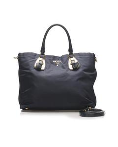 Prada Tessuto Tote Bag Blue
