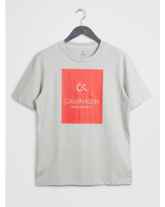 Billboard Ss Tee Lt Grey Htr/high Risk Red