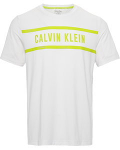 Short Sleeve Logo Tee B Bright White/lime Punch
