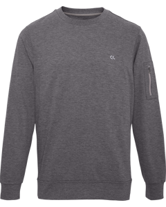 Pullover Med Grey Htr/ck Black/lime Punch