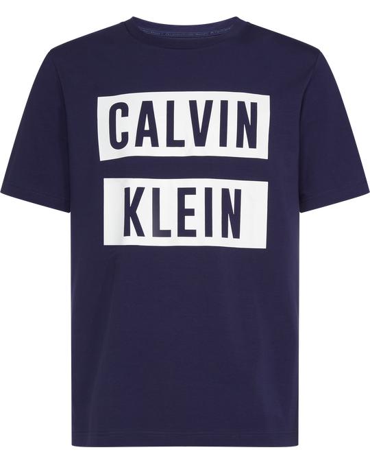 Calvin Klein Logo Ss Tee A Night Sky/bright White
