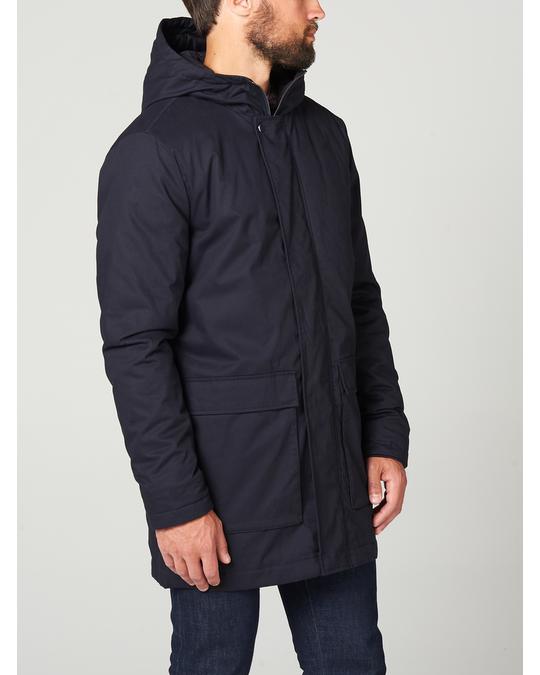 MVP Padded Hooded Coat Dark Navy